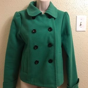 dELiA*s green coat size large